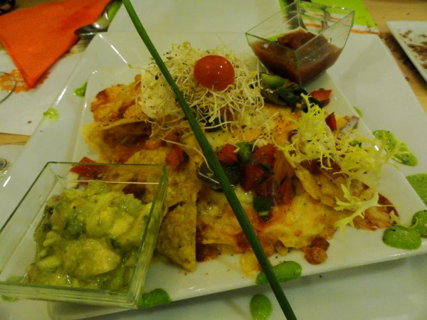 Nachos con queso