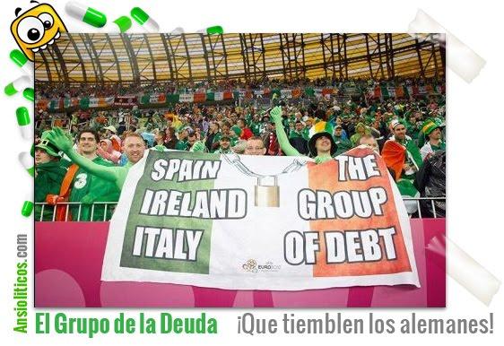 Chiste de Eurocopa: Grupo de Países de la Deuda