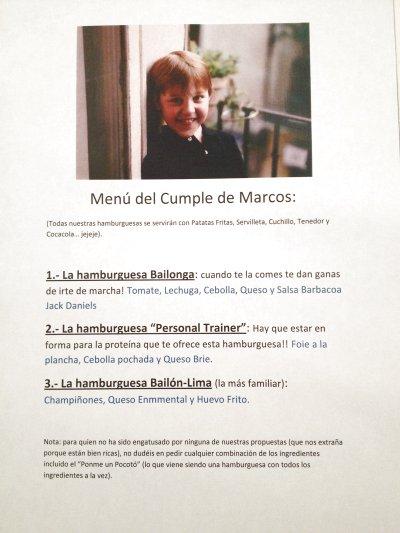 Cumpleaños de Marcos