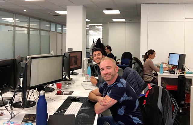 Trabajando en Oxygen workspace Coworking en Madrid
