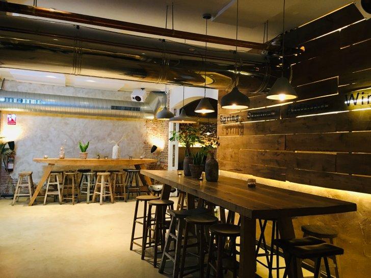 Mesas del Restaurante Honest Greens
