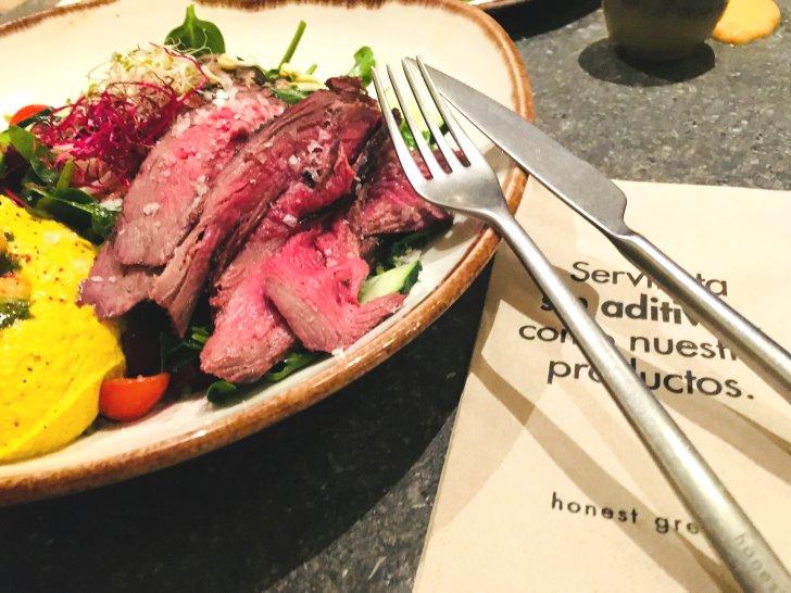 Comer en el Restaurante Honest Greens