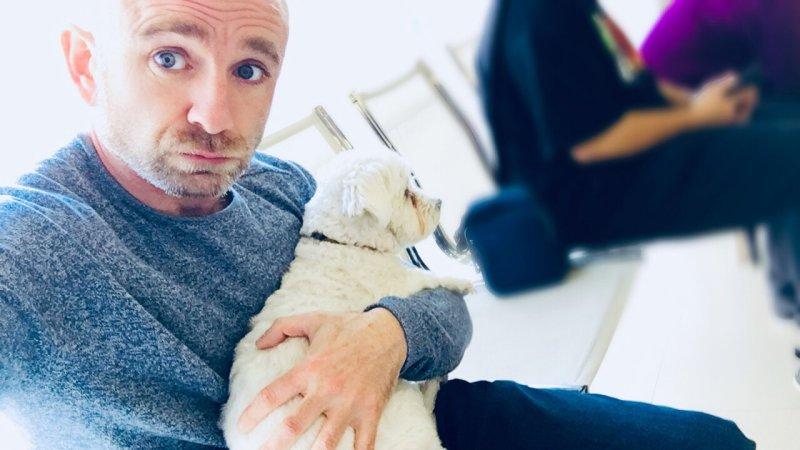 Iron y yo en el veterinario