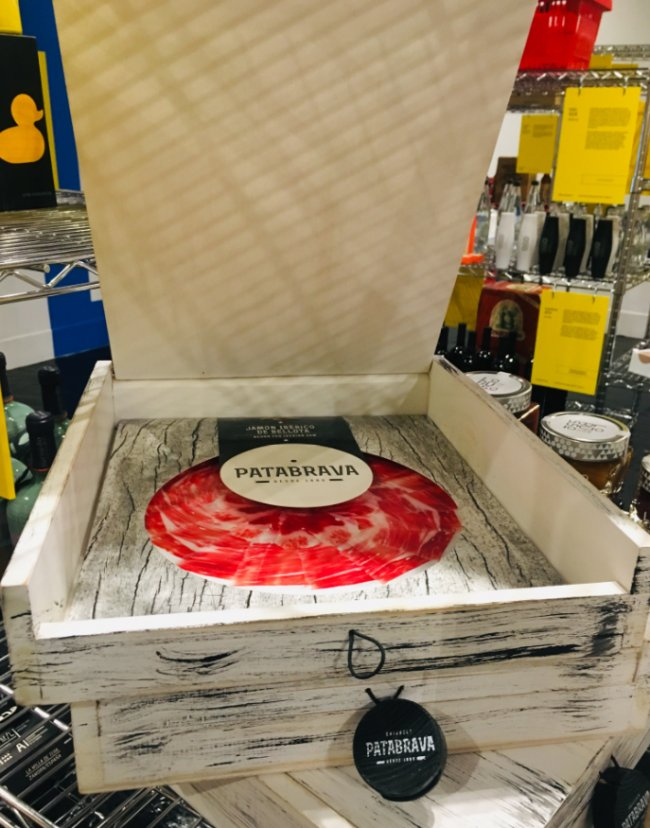 Packaging de jamón con tapadera