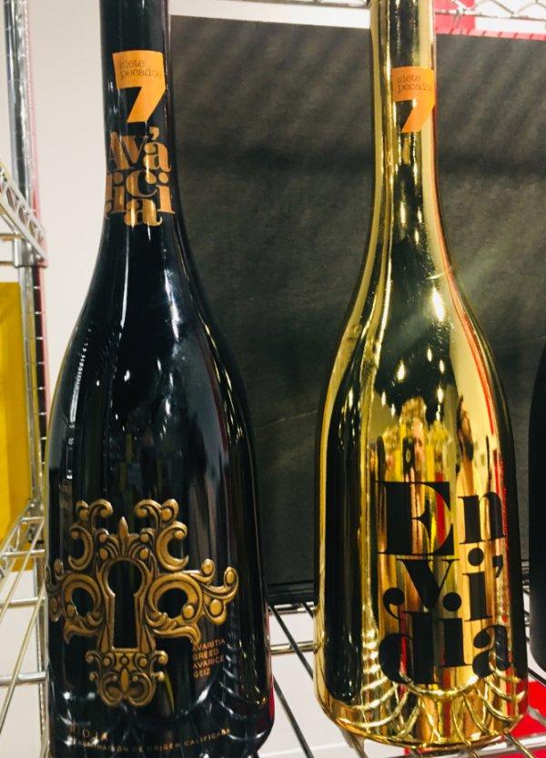 Botellas de vino de los pecados capitales: Envidia y Avaricia
