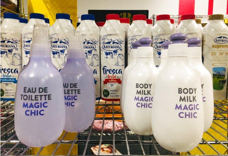 Botes de body milk y eau de toilette ergonómicos