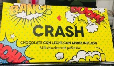"Envase de chocolate ""Crash"" de la exposición sobre Packaging Super"