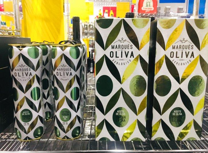 """Envase del aceite de oliva ecológico """"Marques de Oliva"""""""