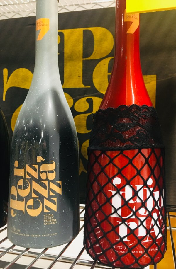 Botellas de vino de los pecados capitales: Lujuria y Pereza