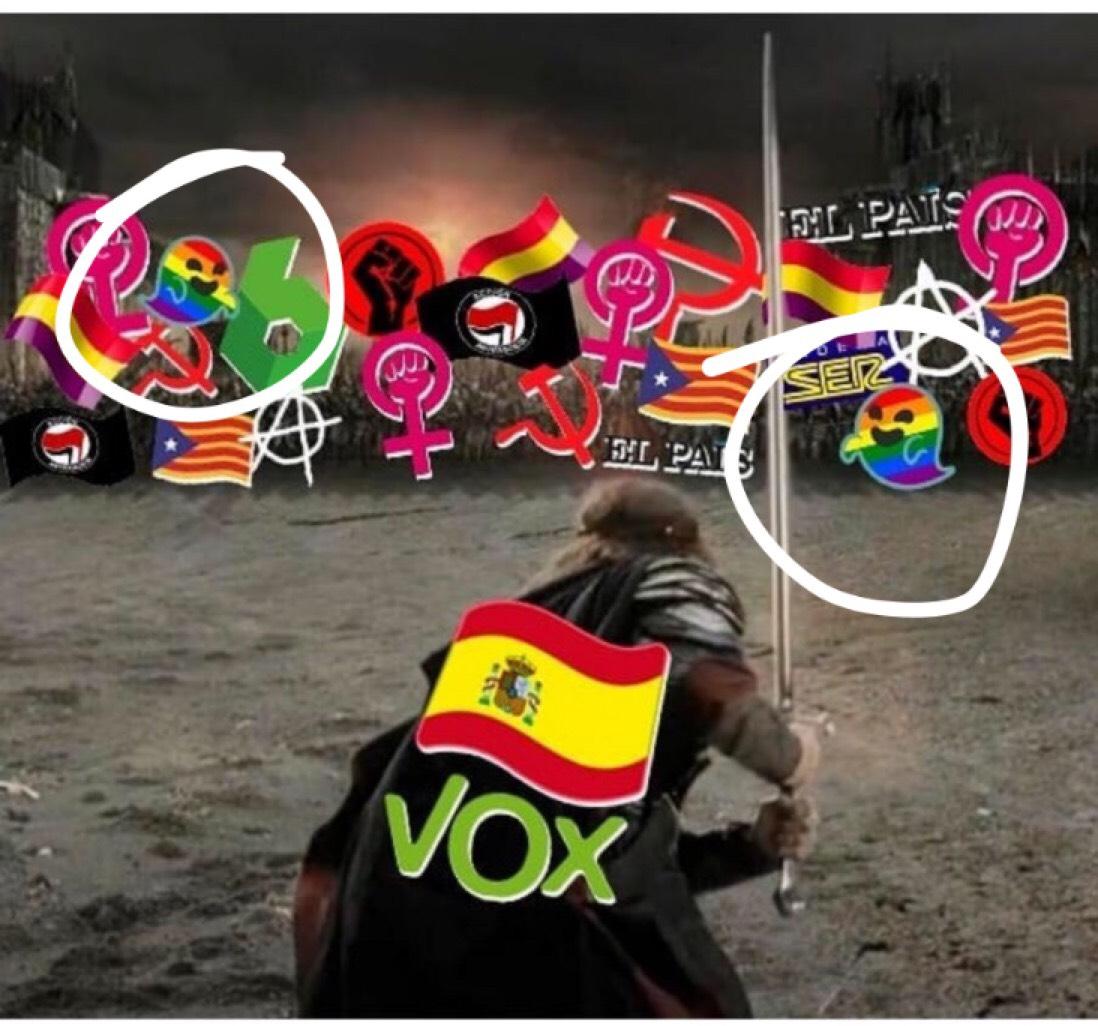 VOX publica una imagen donde empieza la batalla contra los gays